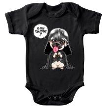 Body bébé  parodique Dark Vadog, le Carlin se prenant pour Dark Vador : Je suis ton pépère... !! (Parodie )