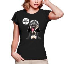 T-shirts Femmes  parodique Dark Vadog, le Carlin se prenant pour Dark Vador : Je suis ton pépère... !! (Parodie )