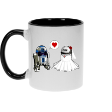 Mug  parodique R2-D2 : Just Married... :) (Parodie )