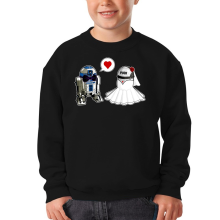 Sweat-shirts  parodique R2-D2 : Just Married... :) (Parodie )
