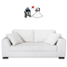 Sticker Mural  parodique R2-D2 : Just Married... :) (Parodie )