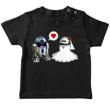 T-shirt bébé  parodique R2-D2 : Just Married... :) (Parodie )