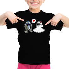 T-shirt Enfant Fille  parodique R2-D2 : Just Married... :) (Parodie )
