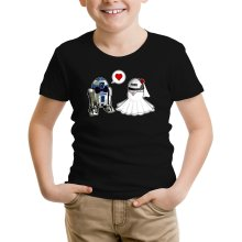T-shirt Enfant  parodique R2-D2 : Just Married... :) (Parodie )