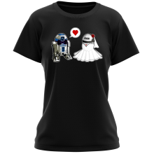 T-shirt Femme  parodique R2-D2 : Just Married... :) (Parodie )