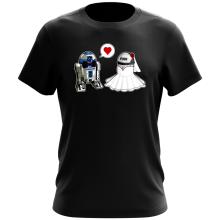 T-shirt  parodique R2-D2 : Just Married... :) (Parodie )