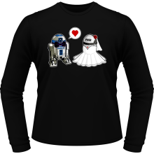 T-Shirts à manches longues  parodique R2-D2 : Just Married... :) (Parodie )