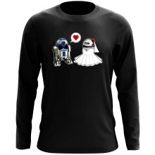 T-Shirt à manches longues  parodique R2-D2 : Just Married... :) (Parodie )