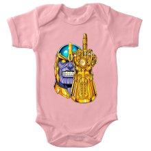 Funny  Baby Bodysuit (Baby Girls) - Thanos ( Parody) (Ref:1078)