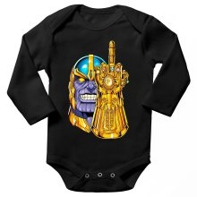 Funny  Long sleeve Baby Bodysuit - Thanos ( Parody) (Ref:1078)