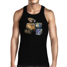 Funny Tank Tops - Wall-E, Goldorak and R2-D2 ( Parody)