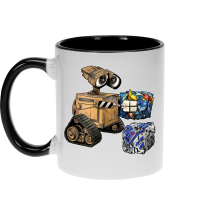 Funny Mugs - Wall-E, Goldorak and R2-D2 ( Parody)