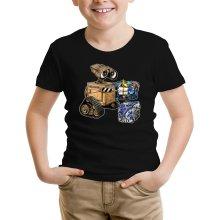 T-shirt Enfant  parodique Wall-E, Goldorak et R2-D2 : La grosse boulette... :) (Parodie )