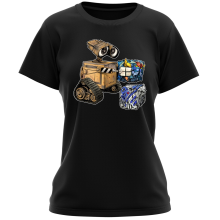 Funny Women T-shirt - Wall-E, Goldorak and R2-D2 ( Parody)