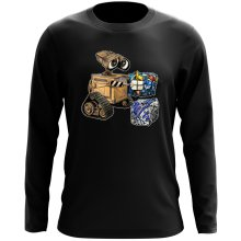 Funny Long Sleeve Tops - Wall-E, Goldorak and R2-D2 ( Parody)