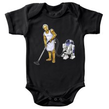 Body bébé  parodique R2-D2 et C-3PO : Le grand ménage de Printemps :) (Parodie )