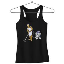 Débardeur Femme  parodique R2-D2 et C-3PO : Le grand ménage de Printemps :) (Parodie )