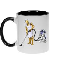 Mugs  parodique R2-D2 et C-3PO : Le grand ménage de Printemps :) (Parodie )