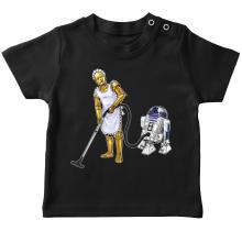 T-shirts  parodique R2-D2 et C-3PO : Le grand ménage de Printemps :) (Parodie )