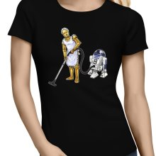 T-shirts Femmes  parodique R2-D2 et C-3PO : Le grand ménage de Printemps :) (Parodie )