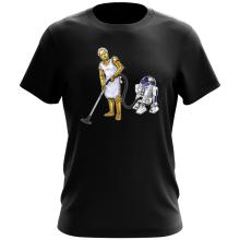 T-shirt  parodique R2-D2 et C-3PO : Le grand ménage de Printemps :) (Parodie )