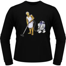 T-Shirts à manches longues  parodique R2-D2 et C-3PO : Le grand ménage de Printemps :) (Parodie )