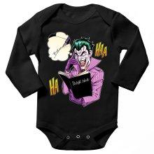 Body bébé manches longues  parodique Le Joker de Batman et le Death Note : Le Joke Note... (Parodie )