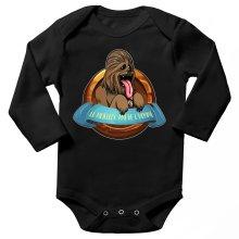 Body bébé manches longues  parodique Chewbacca : Le Meilleur Ami de l
