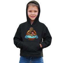 Sweat à capuche Enfant  parodique Chewbacca : Le Meilleur Ami de l