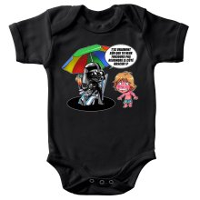 Body bébé  parodique Luke Skywalker, Dark Vador et le côté obscur : Le pouvoir du côté Obscur... (Parodie )