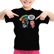 T-shirt Enfant Fille  parodique Luke Skywalker, Dark Vador et le côté obscur : Le pouvoir du côté Obscur... (Parodie )