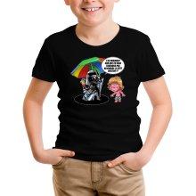 T-shirt Enfant  parodique Luke Skywalker, Dark Vador et le côté obscur : Le pouvoir du côté Obscur... (Parodie )