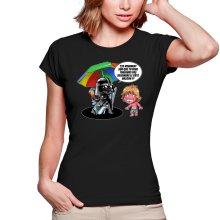 T-shirts Femmes  parodique Luke Skywalker, Dark Vador et le côté obscur : Le pouvoir du côté Obscur... (Parodie )