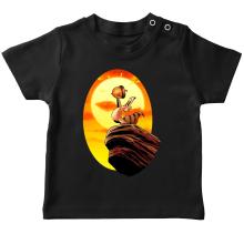 T-shirt bébé  parodique Le Roi Lion et Scrat : Le Roi des Glands - Savane (Parodie )