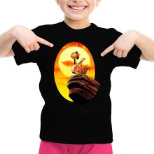 T-shirt Enfant Fille  parodique Le Roi Lion et Scrat : Le Roi des Glands - Savane (Parodie )