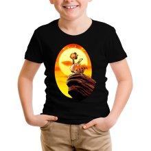 T-shirt Enfant  parodique Le Roi Lion et Scrat : Le Roi des Glands - Savane (Parodie )