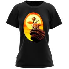 T-shirt Femme  parodique Le Roi Lion et Scrat : Le Roi des Glands - Savane (Parodie )