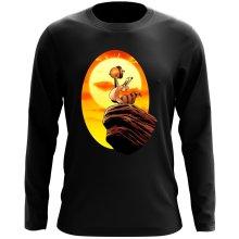 T-Shirt à manches longues  parodique Le Roi Lion et Scrat : Le Roi des Glands - Savane (Parodie )