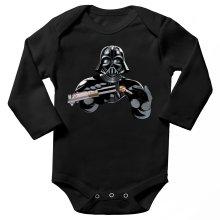 Body bébé manches longues  parodique Dark Vador : Le secret de la Force ! (Parodie )
