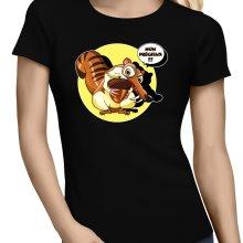 T-shirts Femmes  parodique Scrat se la joue Gollum : Le Seigneur des Glands... :) (Parodie )