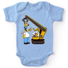 Funny  Baby Bodysuit - Kévin the Minion and Homer Simpson ( Parody) (Ref:611)