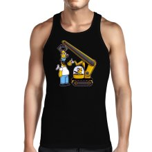 Funny  Tank Top - Kévin the Minion and Homer Simpson ( Parody) (Ref:611)