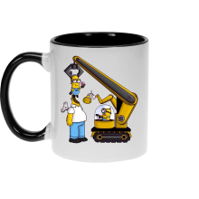 Funny  Mug - Kévin the Minion and Homer Simpson ( Parody) (Ref:611)