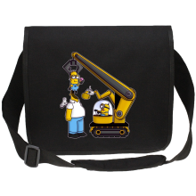 Funny  Canvas Messenger Bag - Kévin the Minion and Homer Simpson ( Parody) (Ref:611)