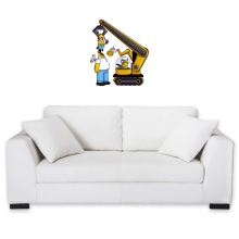 Funny  Wall Sticker - Kévin the Minion and Homer Simpson ( Parody) (Ref:611)