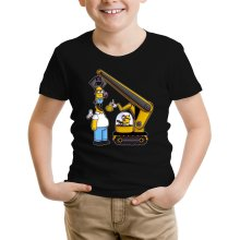 Funny  Kids T-Shirt - Kévin the Minion and Homer Simpson ( Parody) (Ref:611)