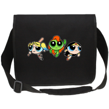 Sac bandoulière Canvas  parodique Bulle, Belle et Rebelle en mode Harley Quinn, Poison Ivy et Wonderwoman : Les Super Girls ! (Parodie )