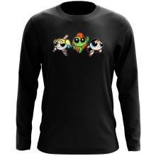 T-Shirt à manches longues  parodique Bulle, Belle et Rebelle en mode Harley Quinn, Poison Ivy et Wonderwoman : Les Super Girls ! (Parodie )