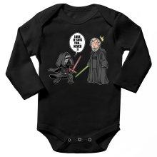 Body bébé manches longues  parodique Kylo Ren Vs Luke Skywalker : Luke, je suis ton... ;) (Parodie )