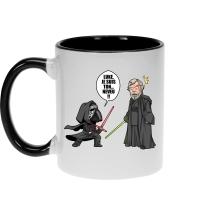 Mug  parodique Kylo Ren Vs Luke Skywalker : Luke, je suis ton... ;) (Parodie )